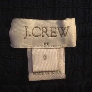 J. Crew Shorts - Navy crinkle cotton drawstring shorts w/silver emb